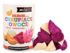 Chrupiące owoce melon i dragon fruit 80g Mix It